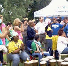 drumming party - social drumming at corporate fun day